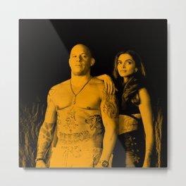 Vin Diesel with Dipika Padukone Metal Print