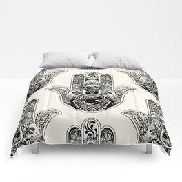 Hamsa Hand French Bulldog Comforters