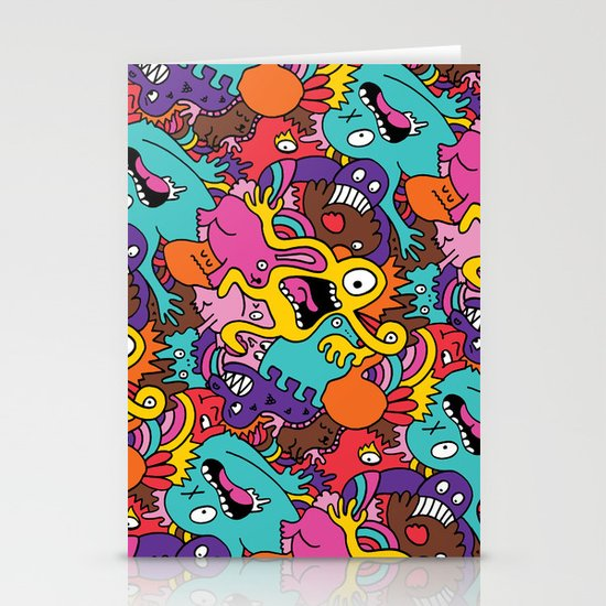 More Monsters, More Patterns Stationery Cards