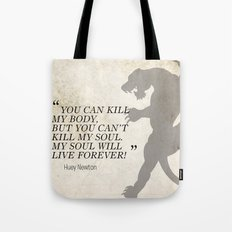 Famous Last Words: Huey Newton Tote Bag
