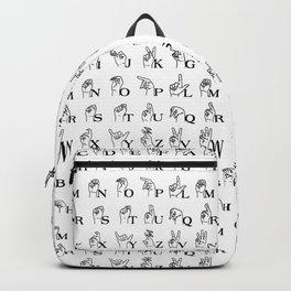 Sign Language Backpack