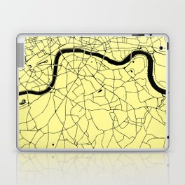 London Yellow on Black Street Map Laptop & iPad Skin