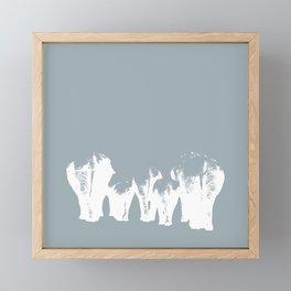 White Elephants Framed Mini Art Print