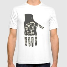 Give Yourself Away - Hand drawn MEDIUM Mens Fitted Tee White