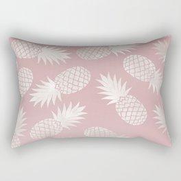 Blush Pineapple Pattern Rectangular Pillow