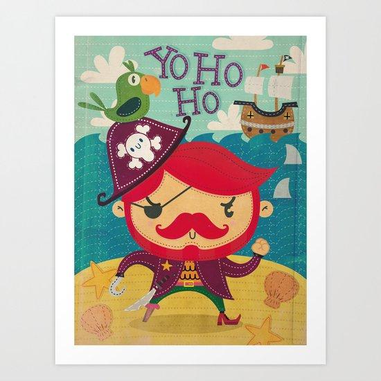 The pirate Yo ho ho Art Print
