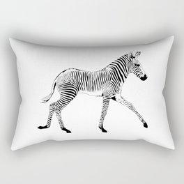 Zebra trotting Rectangular Pillow