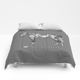 Dapple Gray Horse I Love My Arabian Comforters