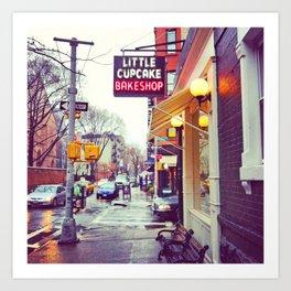 Little Cupcake Bake Shop - NYC Art Print
