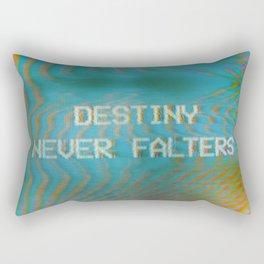 Analogue Glitch 'Destiny Never Falters' Rectangular Pillow