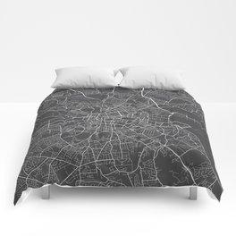 Dublin Map, Ireland - Gray Comforters