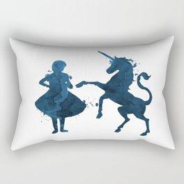 Child and unicorn Rectangular Pillow