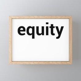 equity Framed Mini Art Print