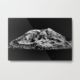 Mount Adams Black and White Metal Print