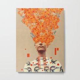 Bird Flight in Autumn Metal Print