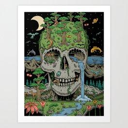 Skull of Life Art Print