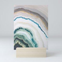 Green Agate #1 Mini Art Print