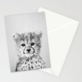 Baby Cheetah - Black & White Stationery Cards