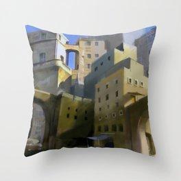 Mediterranean Town Throw Pillow