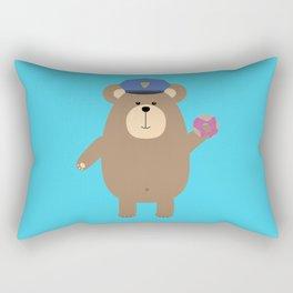 Police Office Brown Bear Rectangular Pillow