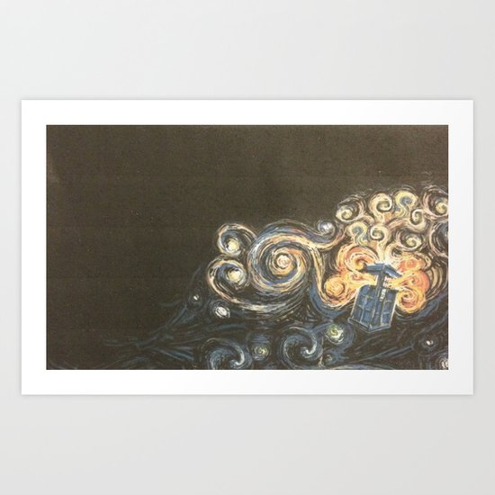 Doctor Who Van Gough Art Print