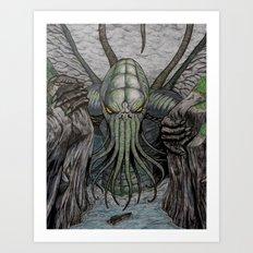 Cthulhu Walks Art Print