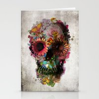 always Stationery Cards featuring SKULL 2 by Ali GULEC