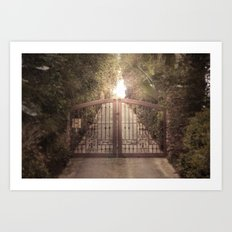 do not proceed while light is on Art Print