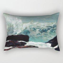 Maine Coast by Winslow'Homer' Rectangular Pillow