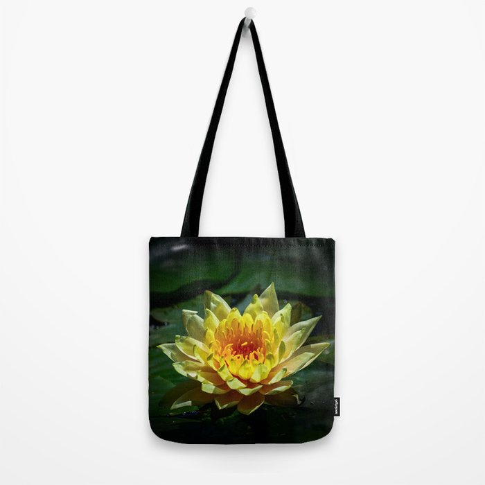 Yellow water lily Tote Bag