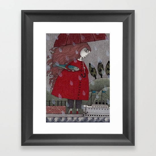 At the Harbor Framed Art Print