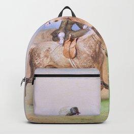 Adolf Schreyer - Riding couple - Digital Remastered Edition Backpack