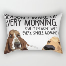 Dogs in the morning Rectangular Pillow