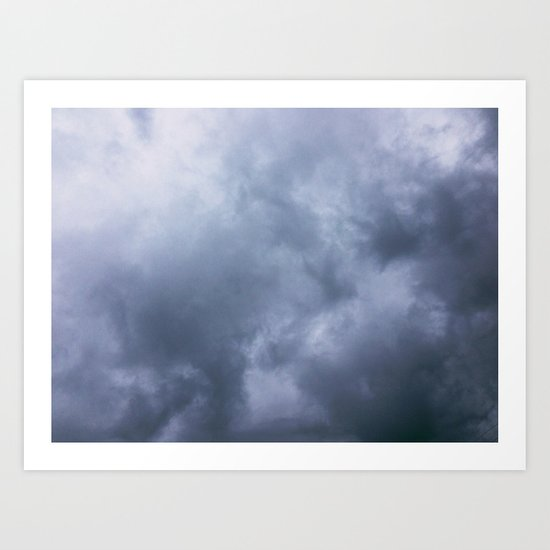 Moody Clouds Art Print
