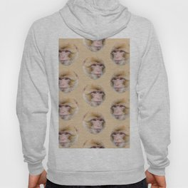 funny cute japanese macaque monkey pattern Hoody
