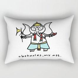 obstacles, my ass (ganesha) Rectangular Pillow