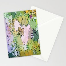 Pastel Hearts and Flowers Stationery Cards