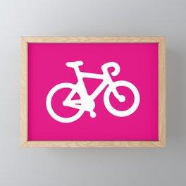 Pink Bike Framed Mini Art Print