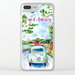 Ready for holidays in Cap d'Antibes ? Clear iPhone Case
