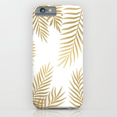 Gold palm leaves Slim Case iPhone 6