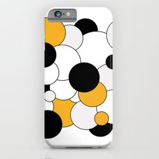 Bubbles - orange, black, gray and white Slim Case iPhone 6s