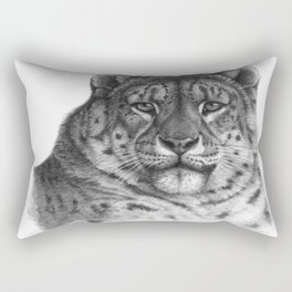Snow Leopard G078 Rectangular Pillow