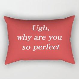 ugh: red Rectangular Pillow