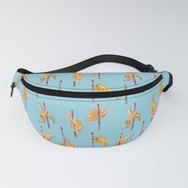 Sloth Pole Dancing Watercolor Fanny Pack