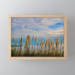 Fort Bragg's Ocean Cattails Framed Mini Art Print