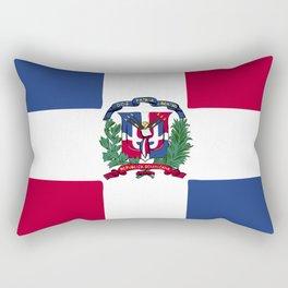 Dominican Republic flag emblem Rectangular Pillow