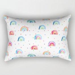 Rainbow baby dreams    watercolor for nursery Rectangular Pillow