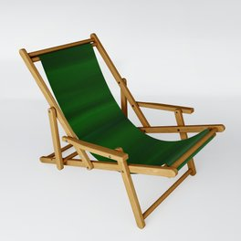 Emerald Green and Black Abstract Sling Chair
