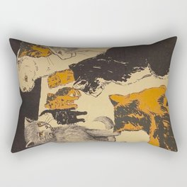 Pussy-cat town - Marion Ames Taggart and Rebecca Chase - 1906 Rectangular Pillow