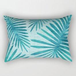 Mid Century Tiki Fronds Rectangular Pillow